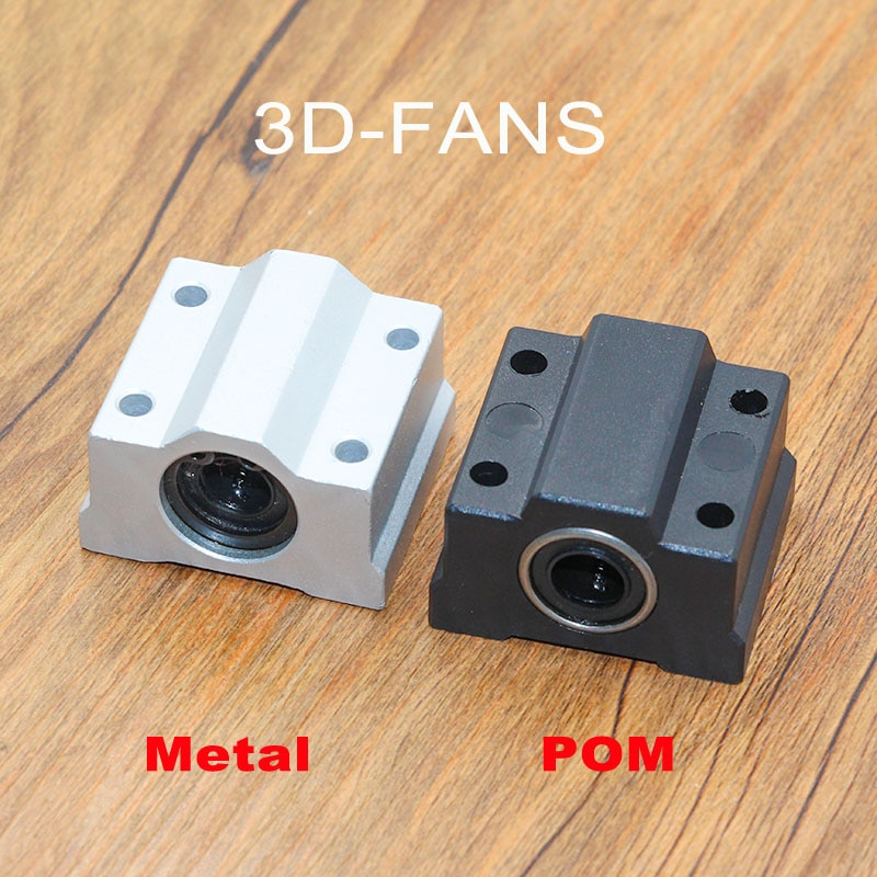 4Pcs/lot SC8UU SCS8UU Aluminum / POM 8mm Linear Motion Ball Bearing Slide Bushing Linear Shaft for CNC For 3D printer
