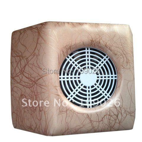 1pcs Lightning grain Brown Color Practical 110V/220V Nail Art Dust Suction Collector Machine