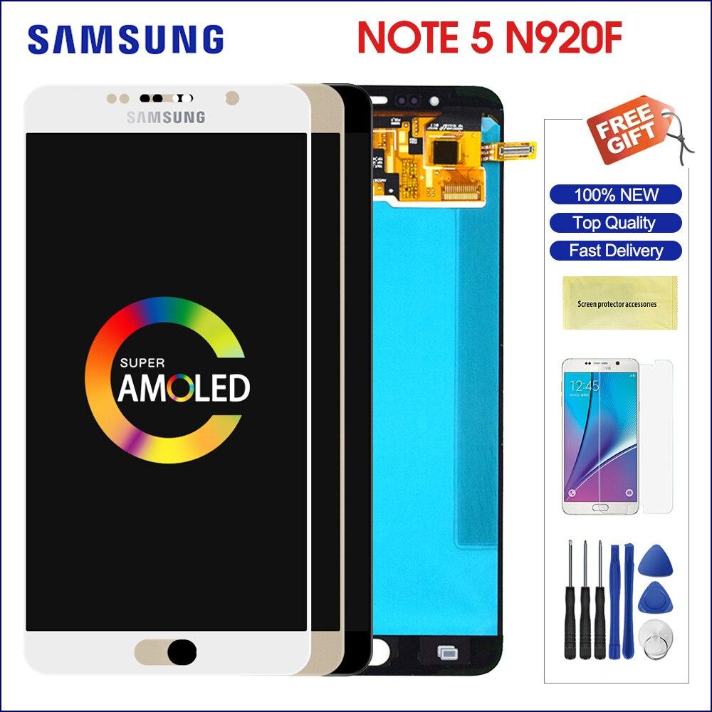 Super AMOLED Original para pantalla LCD Samsung Galaxy Note5 de 5,7 pulgadas + reemplazo del digitalizador del Panel de la pantalla táctil para la nota 5 N920 LCD