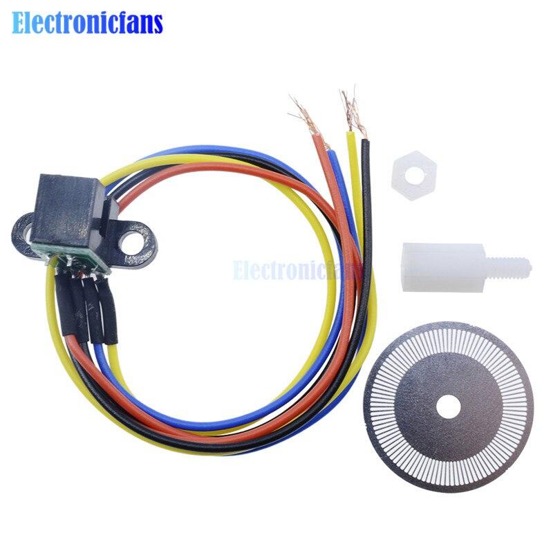 Лазерный фотоэлектрический датчик скорости 5 В, кодовый диск, диск, колесо кода для умные автомобили