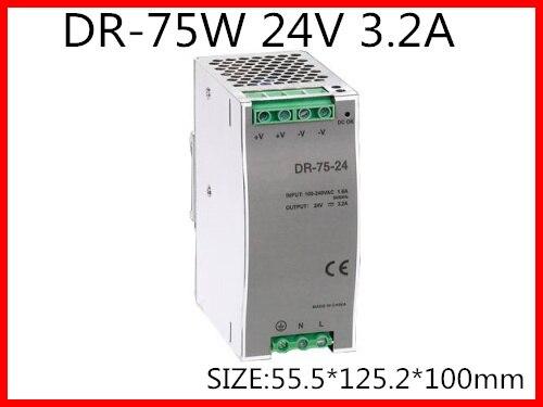 مزود الطاقة DR-75-24 Din ، 75W 24VDC 3.2A