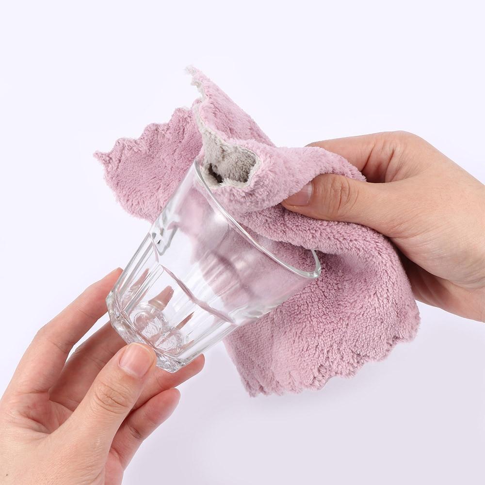 1 pieza de microfibra súper absorbente paño de cocina vajilla de alta eficiencia Toalla de limpieza para el hogar utensilios de cocina Gadgets