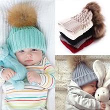 Chapeau tricoté pour nouveau-né hiver   2017, chapeau en laine tricoté, chapeaux chauds pour enfants, chapeaux en laine pour garçons et filles