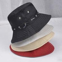 Fashion Unisex Cotton Cap Bucket Hat Hiking Fishing Cap Summer Travel Sun Screen Hats Outdoor Beach Casual Hats