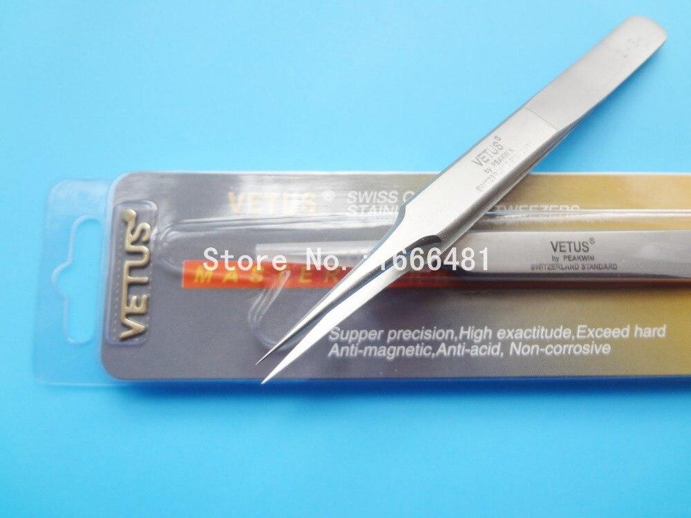 10 قطعة الآمن مكافحة ساكنة الفولاذ المقاوم للصدأ الملقط إصلاح صيانة أدوات Vetus 2-SA