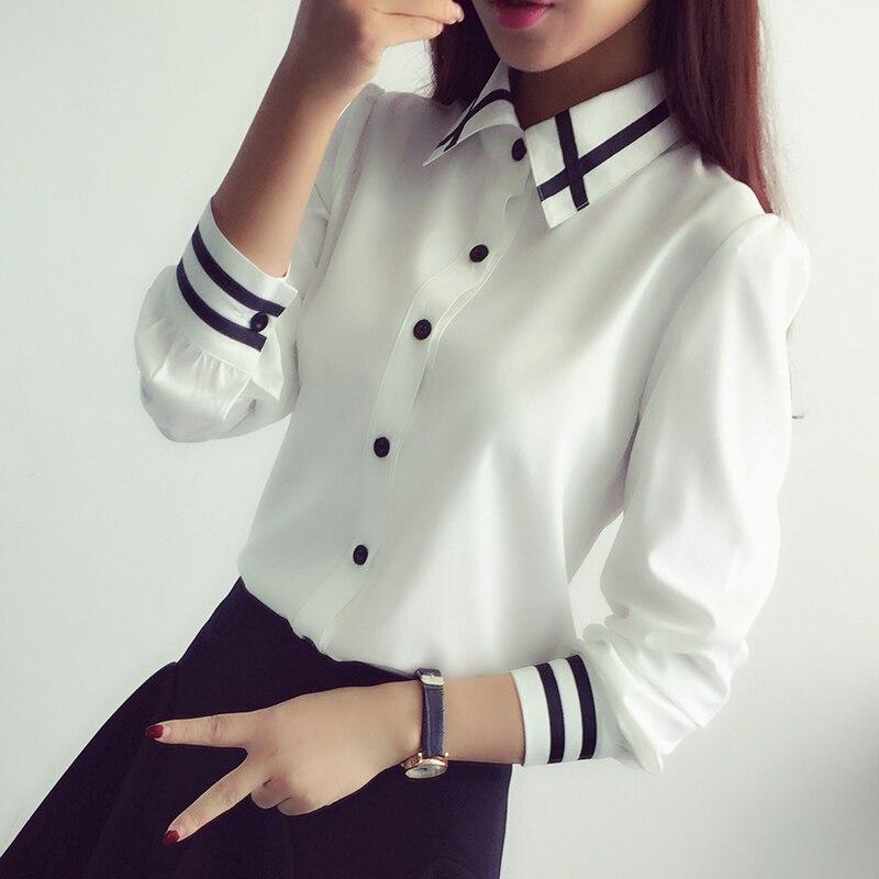 2018 frühling blusas herbst Mode frauen bluse schlank bluse ol bluse langarm weiblichen weißes hemd Chemise Femme Tops