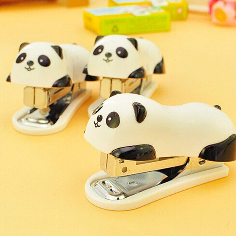 Deli мини панда степлер набор 1000 шт скобы мультфильм офисные школьные принадлежности Staionery скрепка для бумаги переплет книга канализационный