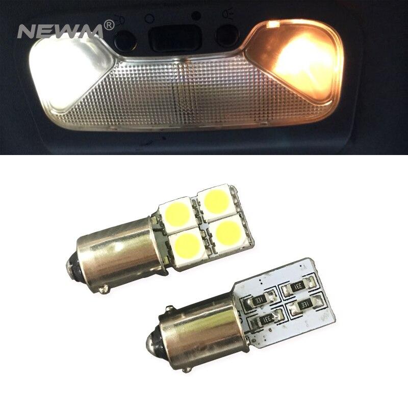 2 pcs Baioneta Branco BA9S H6W 12 v 5050 Chip de LED Auto Lâmpada Do Carro Levou Luz Interior Side Estacionamento Lâmpada iluminação