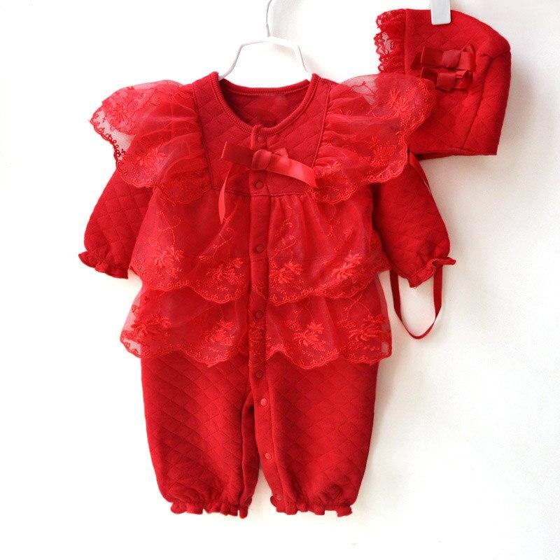 Conjunto de pelele para bebé y niña, Estilo Princesa, conjunto de ropa para recién nacidos y niñas, peleles de encaje suaves + sombreros, traje de 2 uds, mono infantil de flores