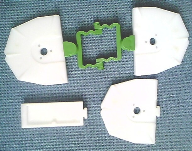 Articulador Dental desechable para placa Base de sistema Zeiser, material de índice de laboratorio Dental 100 unids/pack