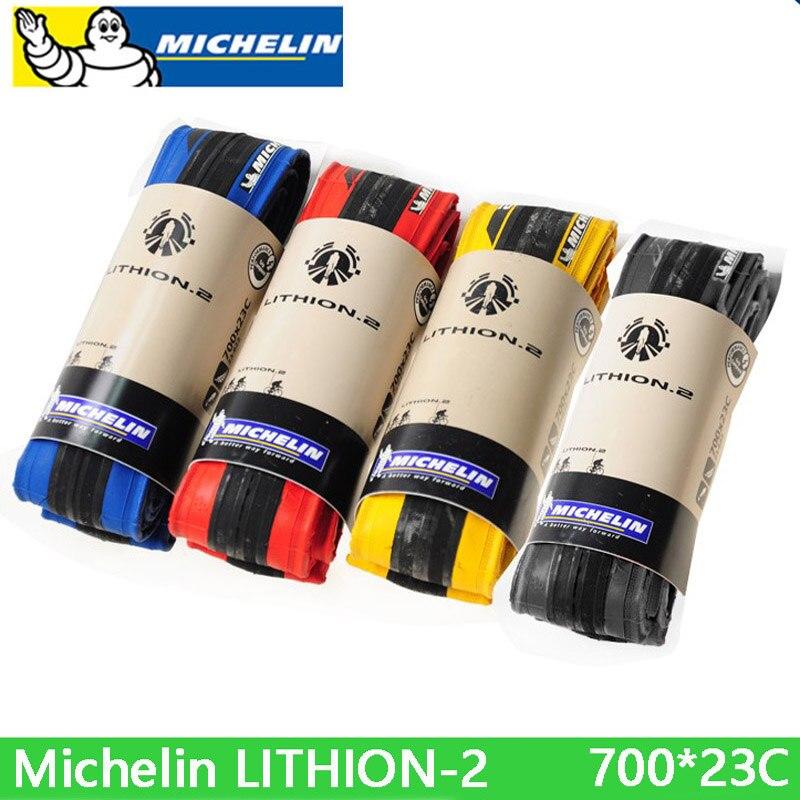 Neumático plegable Michelin, neumático de bicicleta de carretera de LITHION-2, 700 X 23c, cómodo, neumático de alta calidad, piezas de bicicleta, Envío Gratis