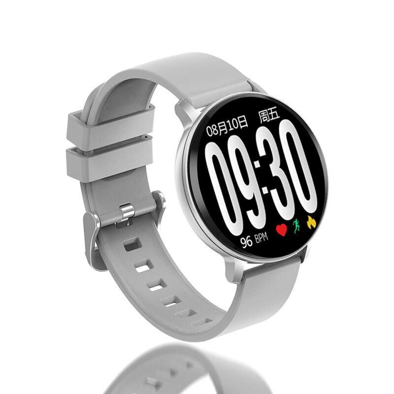 2019 nuevo reloj inteligente hombres mujeres ritmo cardíaco Monitor de presión arterial deporte reloj inteligente podómetro relojes de Fitness para Android IOS + caja