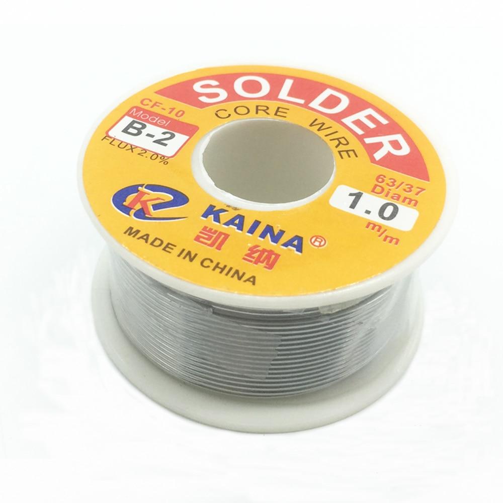 Alta qualidade Ferro De Solda Fio de solda Reel 100g/3.5 oz FLUXO 2.0% 1mm 63/37 PÉS Linha de Estanho Chumbo Rosin Núcleo de Solda de Solda Flux atacado