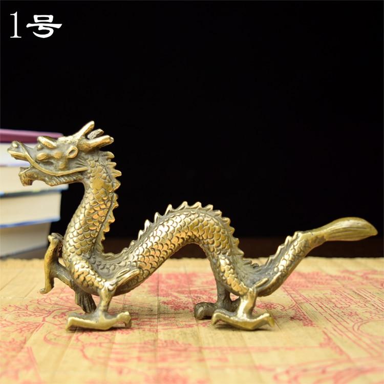 Decoración artística artesanal el cobre dragón luz artesanal viento pequeño Zodiaco de dragón sujetador de cobre grande