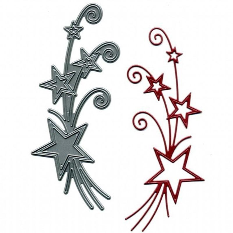 A Bunch Star Sets Die Metal Cutting Dies Stencil for DIY Scrapbooking Album Embossing Paper Cards Decorative Craft Die Template