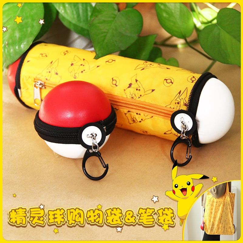 De dibujos animados bolsa de cosméticos Pokemon ir gravedad bolso recibió cartera maquillaje lápiz estuche de bolígrafo de Zelda Pokemon bola bolso WT004