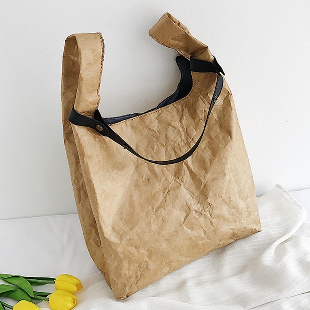 Das mulheres Saco Da Forma bolsa de Ombro Leve Bolsa Clássico Cor de Papel À Prova D Água damskie torebki torebka damska shopper