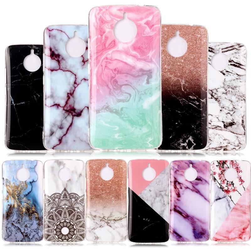 SuliCase para Funda Moto E4 más caso de silicona mármol suave TPU cubierta del teléfono para Motorola Moto E4 más XT1771 XT1770 XT1775