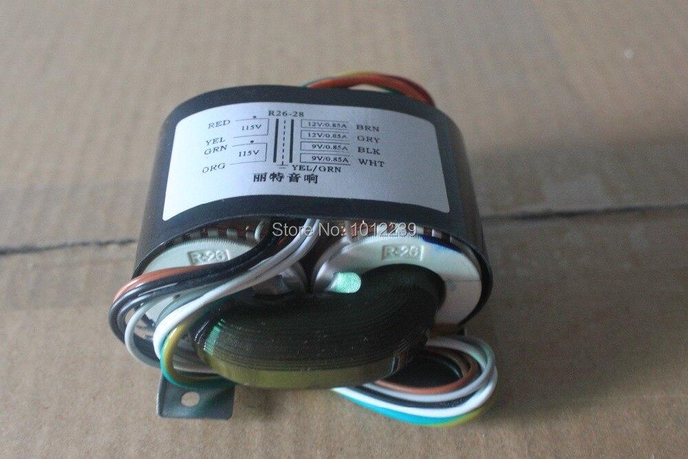 Transformador de potencia LITE R26-22 40VA transformador de núcleo R de 115 V/230 V salida 0-18X2 (0.97A)