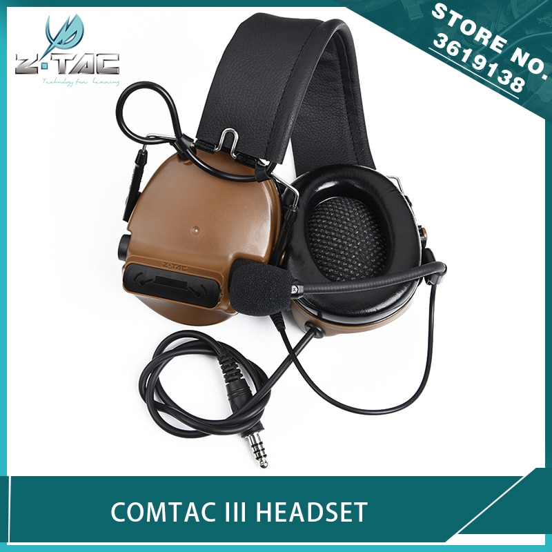 Z-TAC Airsoft Comtac III Headset C3 Noise Reduction Headphone The Fifth Generation+Integrated Circuit Board Hunting Earphone