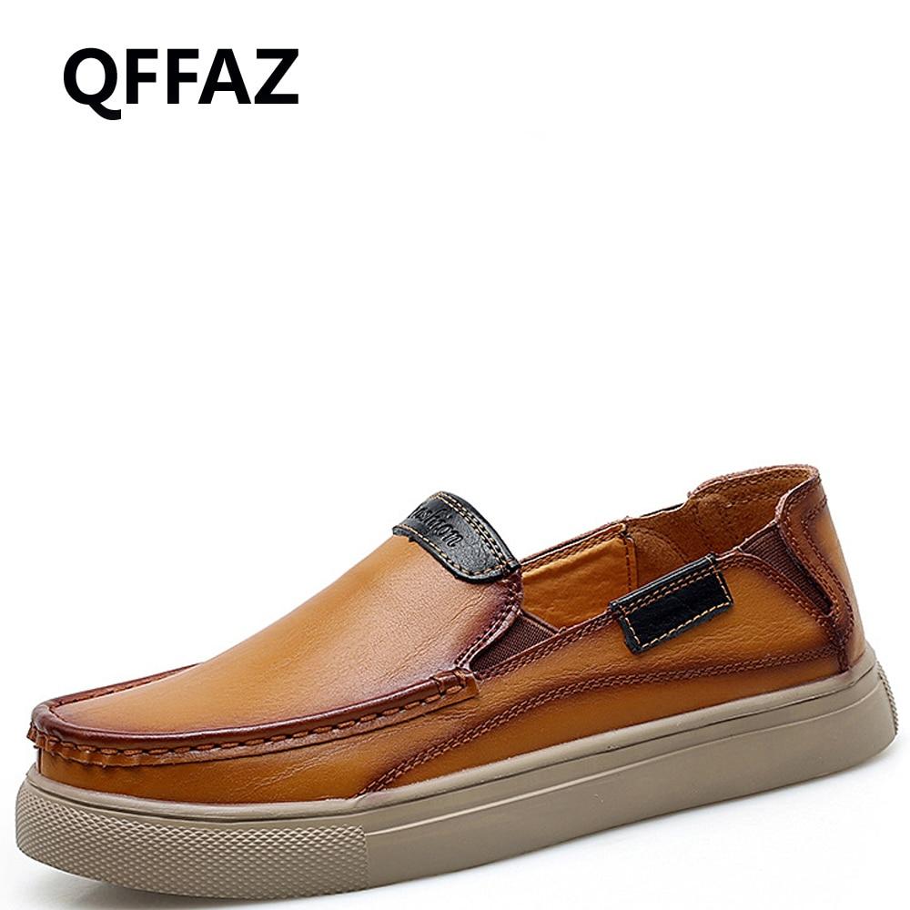 Qfaz 2019 nuevos zapatos de moda para hombre, zapatos de cuero negro para hombre, zapatos de hombre hechos a mano para hombre, zapatos casuales para hombre