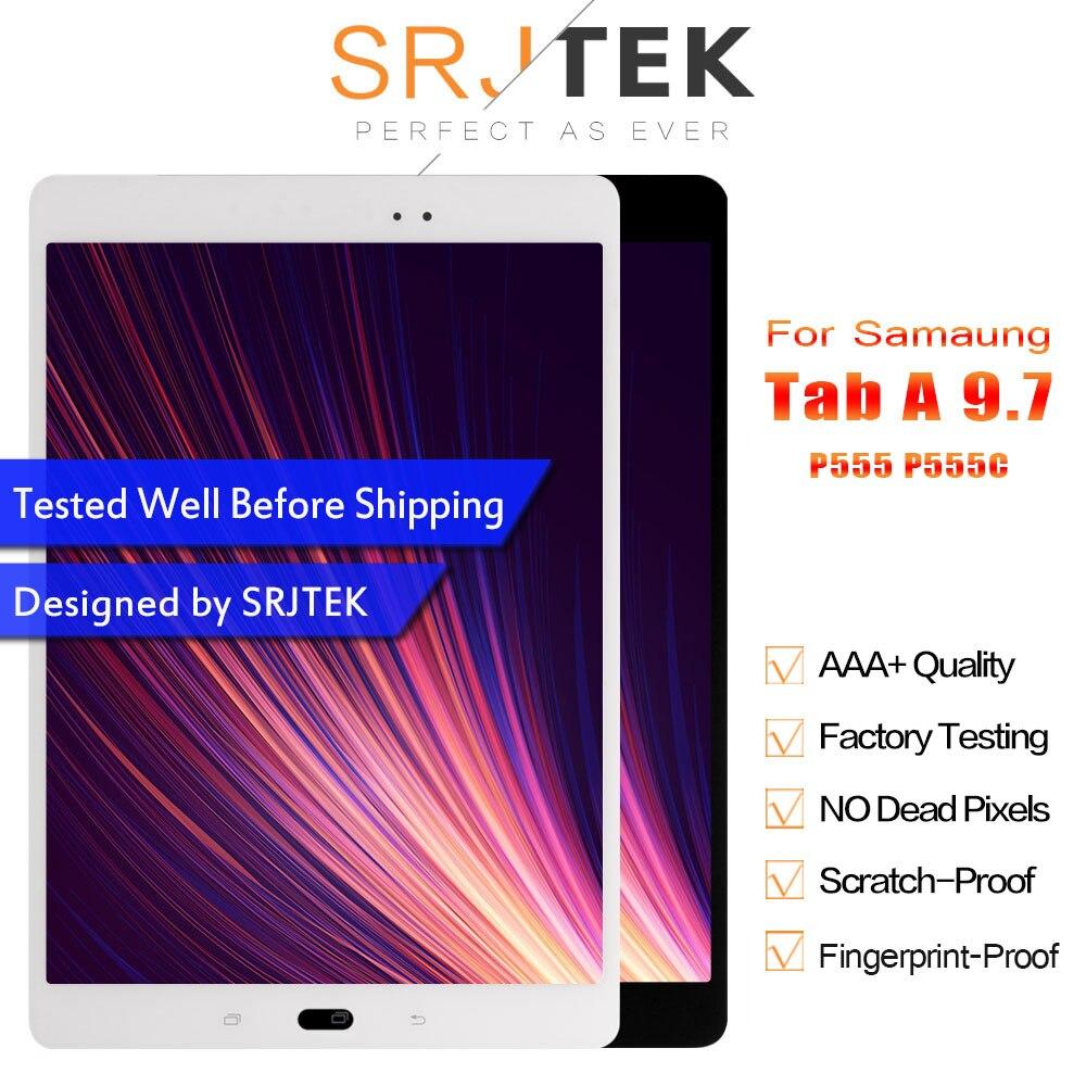 Srjtek para Samsung GALAXY Tab A 9,7 P555 P555C SM-P555 LCD pantalla táctil digitalizador Matrix Panel Tablet montaje piezas