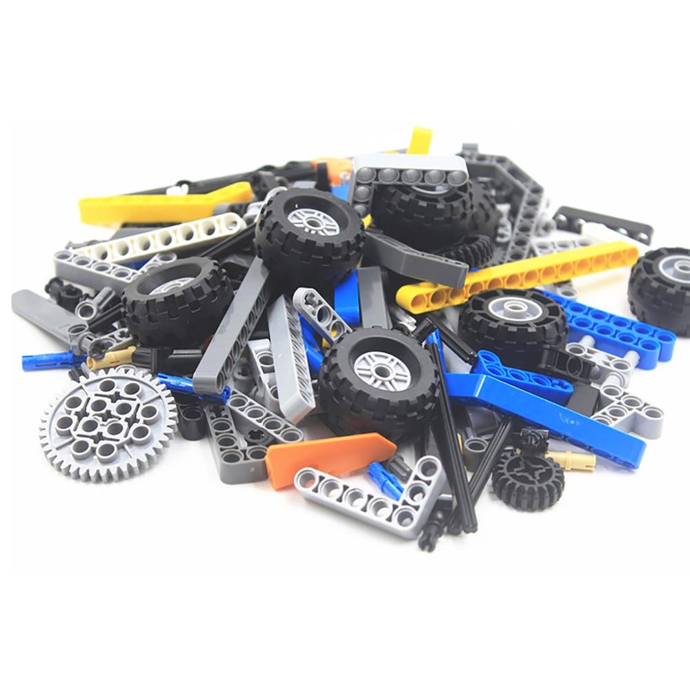 100g partes técnicas a granel para criar moc pessoal, inclui diferentes peças de reposição, brinquedos compatíveis com lego para crianças meninos brinquedo,