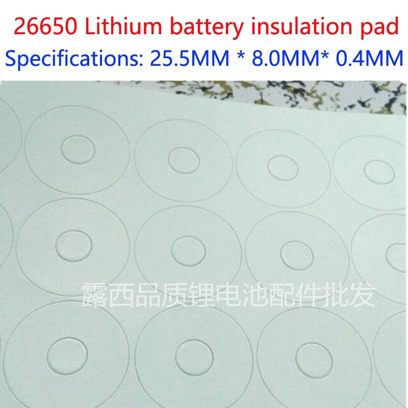1 sección 26650 batería de litio polo positivo, Junta aislada, almohadilla de superficie, almohadilla de aislamiento de Punta hueca meson 1, Unión 26650