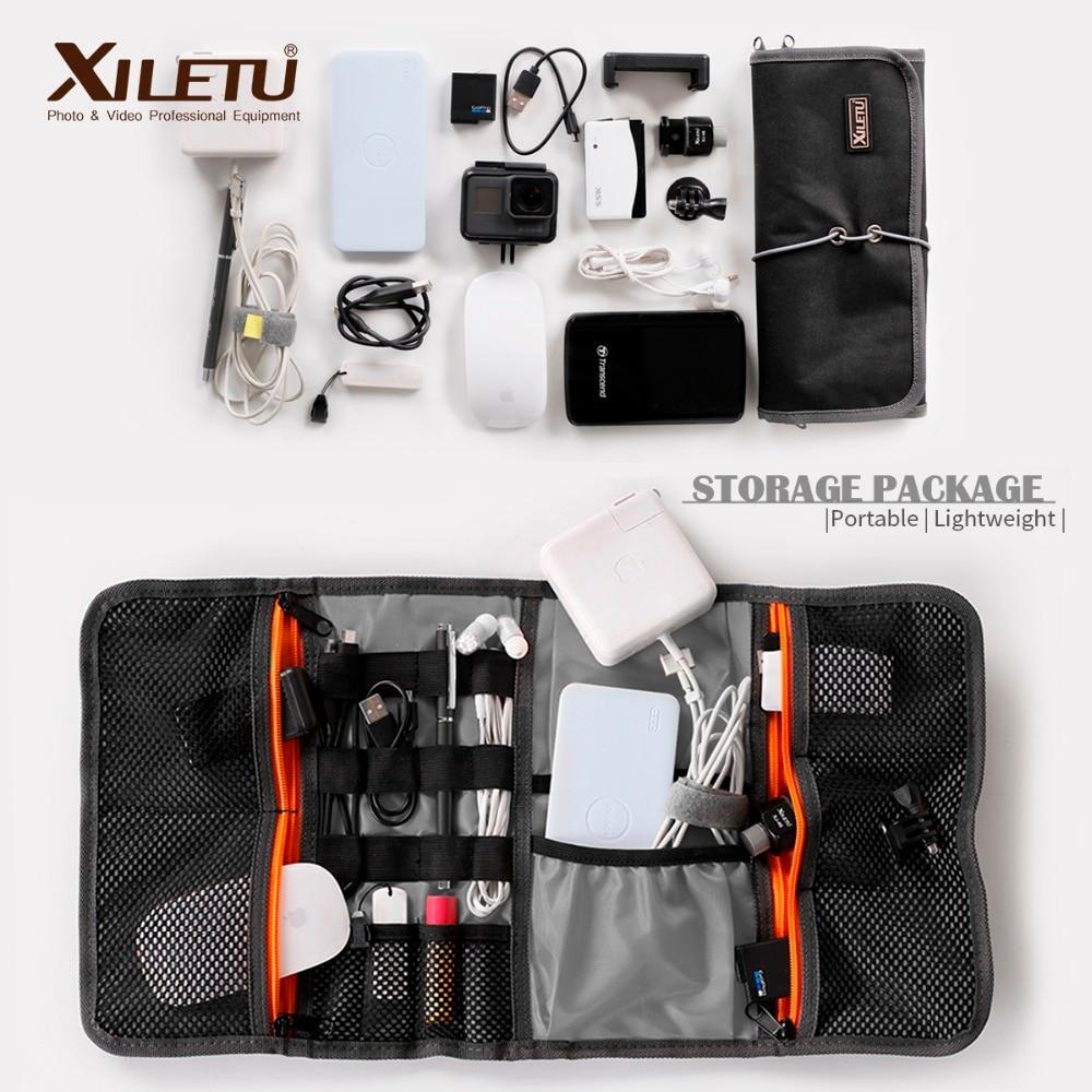 XILETU LP-9 Waterproof data Cable Storage Bag water repellent bags Wire Pen Power Bank Lens Filter  Kit For Digital Accessories