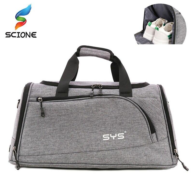 Bolsa de deporte para gimnasio, bolsa de lona para hombre, bolsa de hombro para entrenamiento y ejercicio con bolsillo para zapatos, bolso de viaje impermeable para exteriores