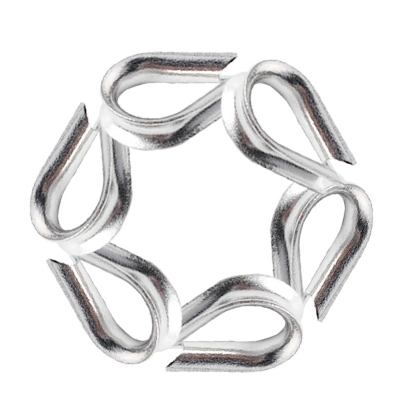GTBL 30 PCS M3 Stainless Steel Thimble for 3/32 inch and 1/8 inch Diameter Wire Rope, Wire Rope Chain Thimble enlarge