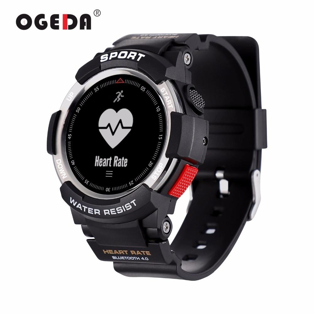 OGEDA мужские часы, Bluetooth F6, Смарт-часы IP68, водонепроницаемые, пульсометр, фитнес-трекер, Смарт-часы с мультиспортивным режимом T50