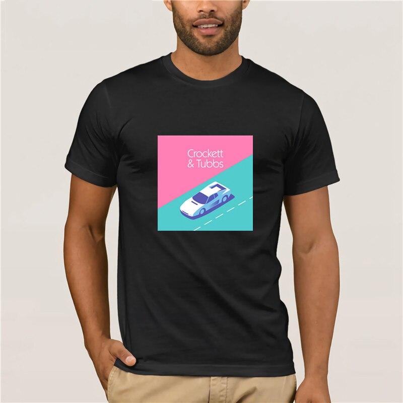 Moda masculina de manga curta t camisa miami vice crockett tubbs magenta ivan krpan transparente camiseta dos desenhos animados do divertimento