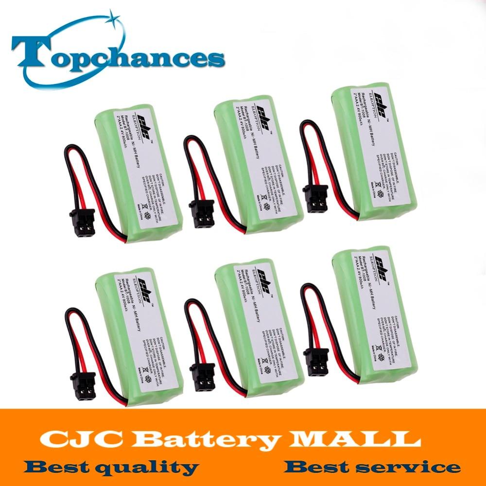 6X Высокое качество беспроводной домашний телефон батарея для Uniden BT-1008 BT-1016 BT-1021 BT1021 Бесплатная доставка
