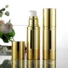 30 ml oro bottiglia di lozione airless pompa a vuoto, 30 ml airless Contenitore Cosmetico, 30 ml airless Bottiglie Riutilizzabili F20171344