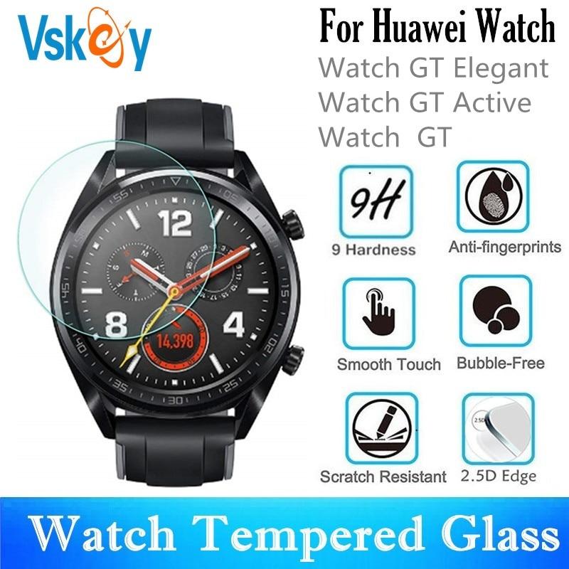 Vidrio Templado VSKEY 20 piezas para Huawei Watch GT elegante GT activo redondo Pantalla de reloj inteligente Protector película protectora