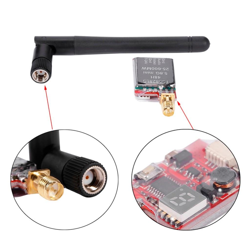 TS5828LS 5,8G Mini 25-600MW 48CH RP-SMA potencia ajustable conmutable AV inalámbrico FPV transmisor peso ligero fácil de usar
