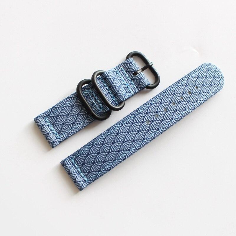 Pulseiras de relógio de camuflagem Esportes Ao Ar Livre Nylon Nato Strap 20mm 22mm Handmade Da Lona de Aço Pulseira Fivela De Metal para Seiko fósseis