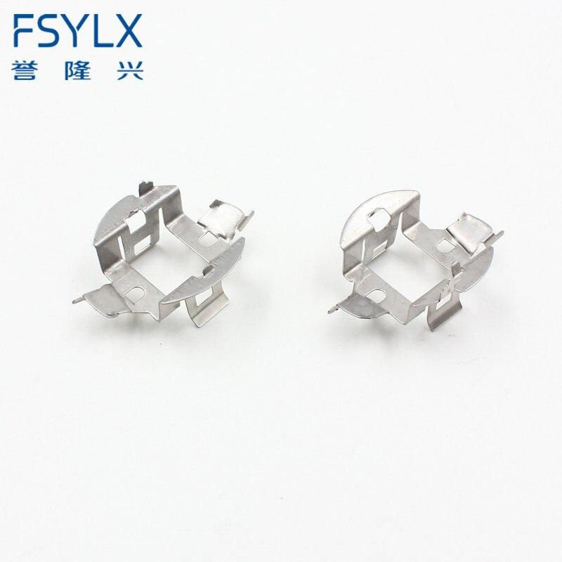 FSYLX 2 bombillas de lámpara HID H7 Clips de retención soportes adaptadores para BMW/Audi/Mercedes/VW H7 adaptador de Xenón HID para VW Sagitar MAGOTAN