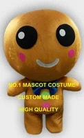professional custom wholesale ginger bread boy mascot costume adult cartoon xmas ginger bread theme anime cosply mascotte1858