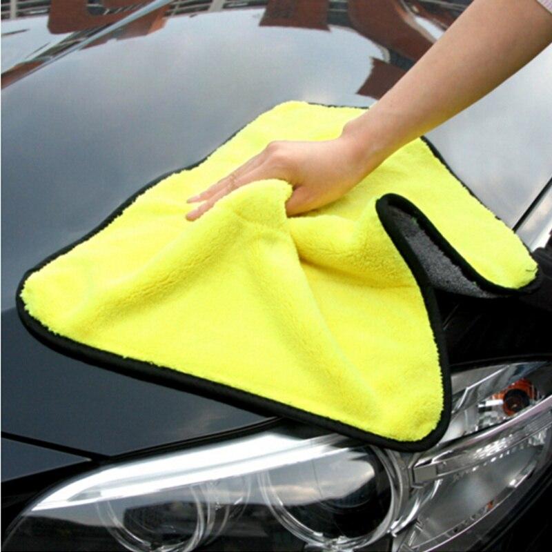 1Pcs 30X30cm Hohe Qualität auto reinigung handtuch Für TOYOTA RAV4 C-HR COROLLA CROWN REIZ PRIUS COROLLA VIOS LAND CRUISER PRADO