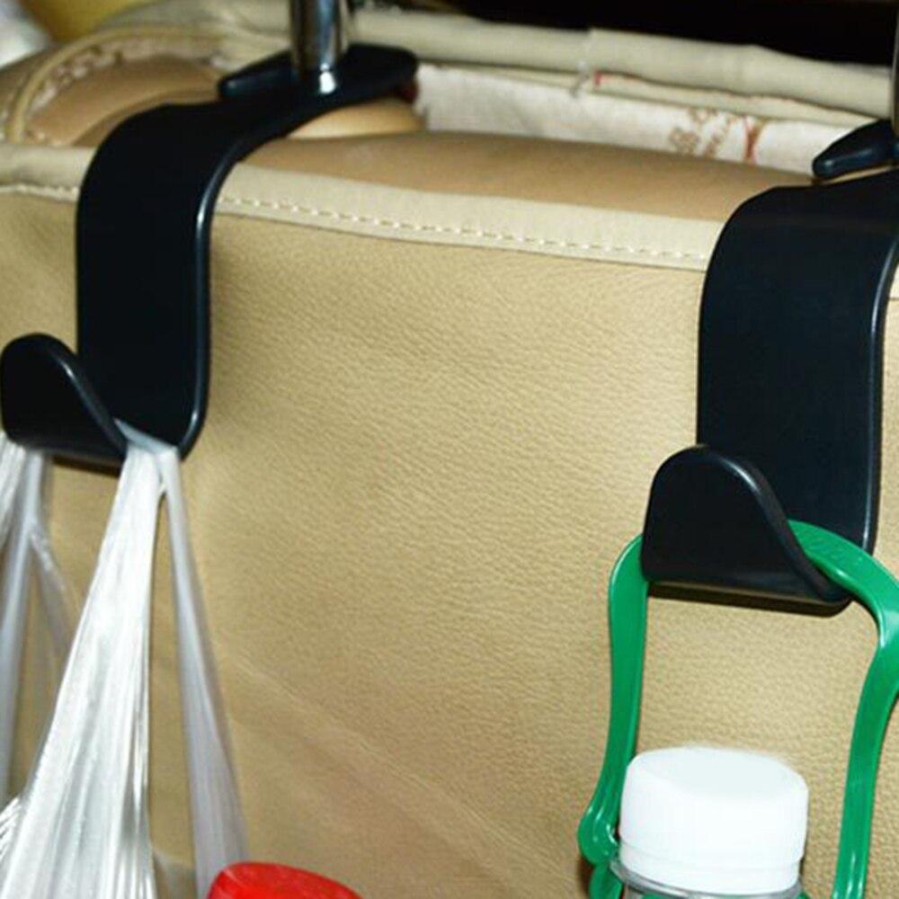 Clips gancho de asiento para el coche Auto reposacabezas suspensión bolsa soporte para coche bolsa tela para bolso almacenaje de alimentos Auto sujetador Accesorios