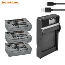 Powtree 2.6Ah Für Nikon EN-EL3e EN EL3e EL3a ENEL3e Digital Kamera Batterie + USB LCD Ladegerät Für Nikon D300S D300 d100 D200 D700