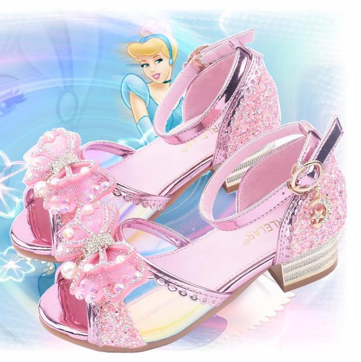 JY, zapatos con cuentas de adorno de cristal para niñas de verano, zapatos de princesa para niñas, zapatos de baile en 4 colores, 26-37 GZX01