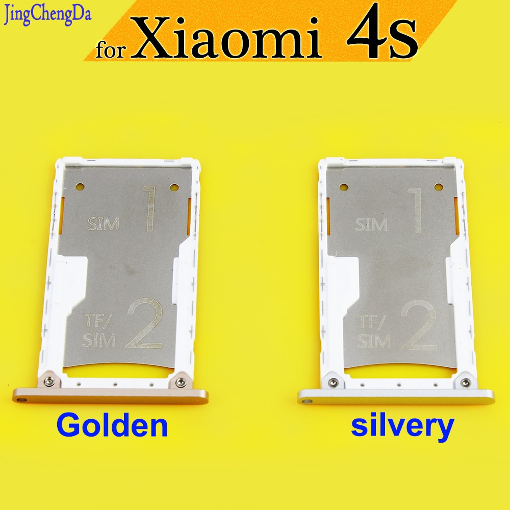 JCD New Replacement Spare Parts for Xiaomi 4S Mi4s SIM Card Tray Slot Holder Adapter Golden/silvery single sim card tray holder slot for samsung galaxy s6 g920 sim card holder slot tray container adapter golden silvery gray