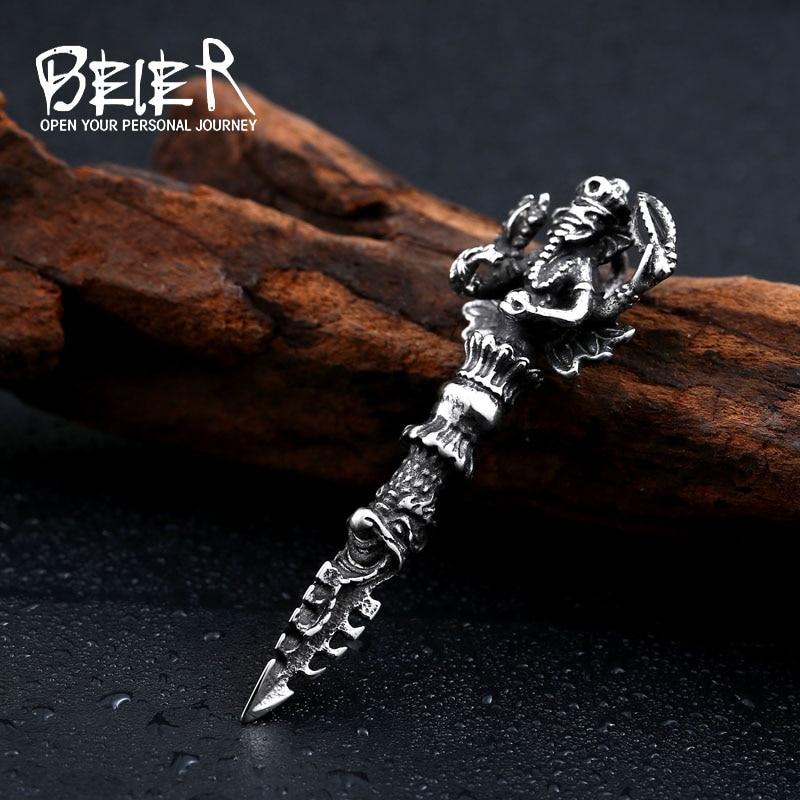 Beier new store 316L Stainless Steel  pendants Indian Ganesha pendant    jewelry LLBP8-184R