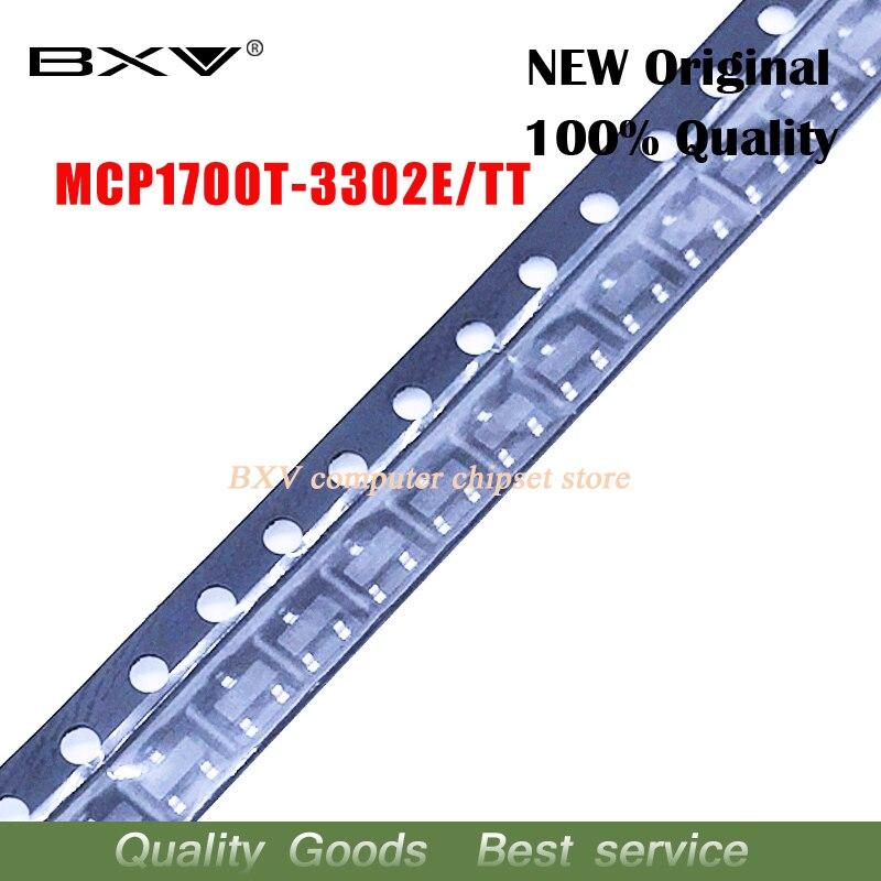 10 шт./лот MCP1700T-3302E/TT MCP1700T-3302E MCP1700T-3302 MCP1700T MCP1700 SOT-23 новый оригинальный Бесплатная доставка