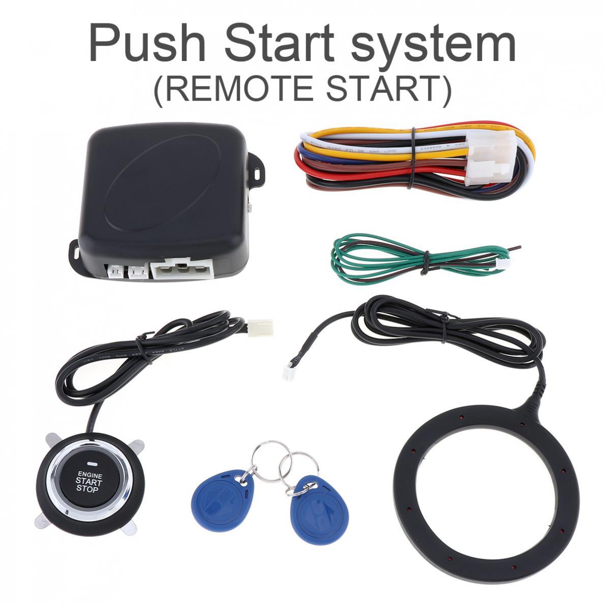 Universal 12V Auto sistemas de alarma de coche botón de inicio para RFID interruptor de bloqueo de ignición de coche Anti-robo empujón sistema
