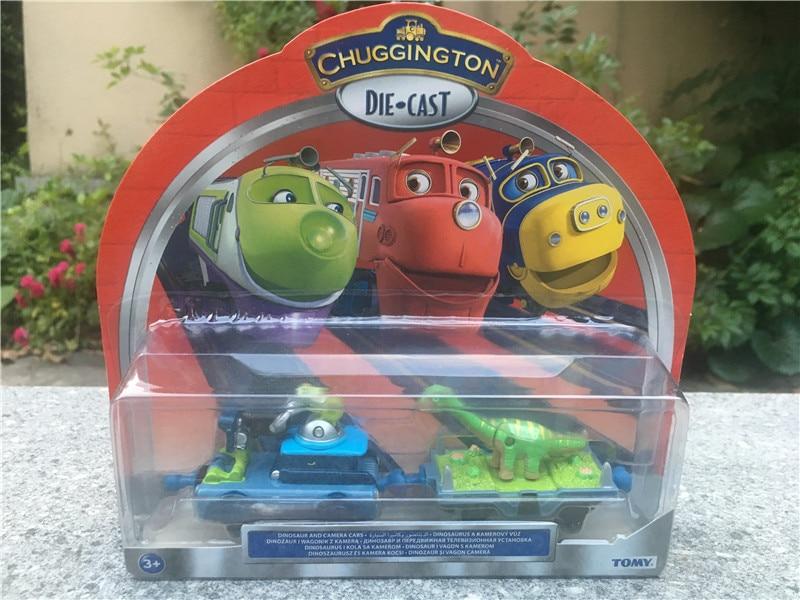Novedad, dinosaurio y cámara Takara Tomy Chuggington, coches de Metal, tren de juguete fundido a presión