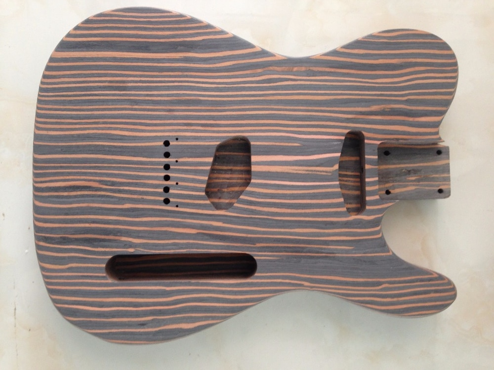Free shipping  zebra wood TL guitar body  one piece wood body no painting enlarge